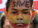 Myanmar protesters in nationwide show of force