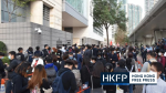 Hundreds chant and show support outside court for Hong Kong democrats charged under security law