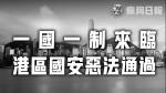 【香港危機】中國人大常委會行禮如儀全票通過國安惡法