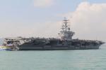 不怕激怒北京 美軍宣布航母雷根號進入南海