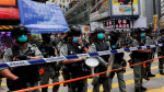Hong Kong man first charged under security law for motorbike 'attack'