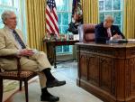 Trump lashes out at 'dour' Republican senate leader