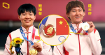 Chinese cyclist awards table with Mao Zedong badge IOC: China promises not to happen again