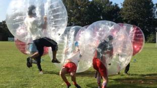 Bubble Football bei Stuttgart