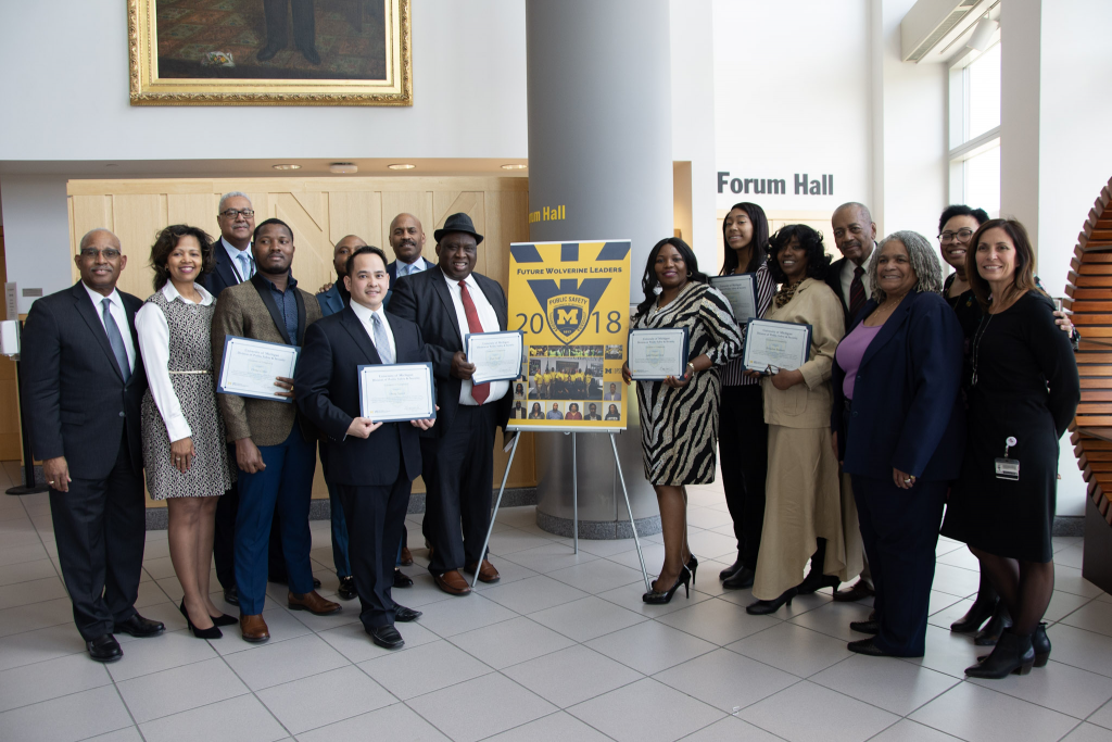 Students from Wayne County Community College District (WCCCD) receiving a program completion award on [DATE] for successfully completing a semester-long externship with DPSS.