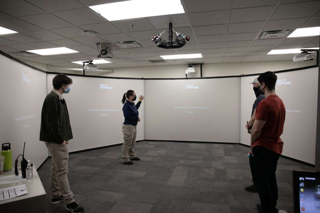 Members of the DPSS Student Advisory Board participated in the Multiple Interactive Learning Objectives (MILO) simulator with DPSS staff on [DATE] and provided feedback to incorporate into future training.