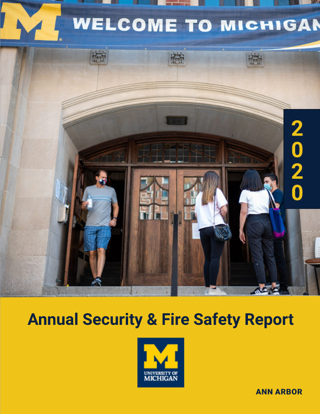 Annual Security and Fire Safety Report Cover