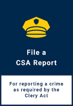 Campus Security Authority Report Form Button