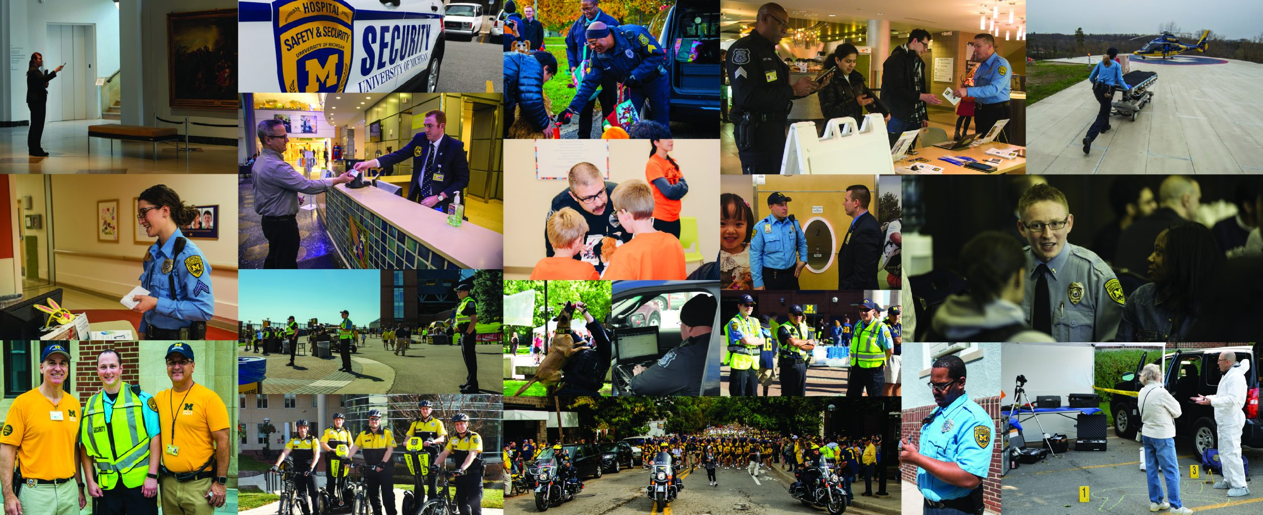 Officer Interactions Collage