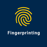 button linking to fingerprinting information webpage