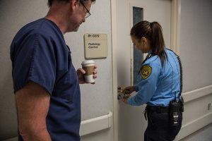 Officer Opening Door