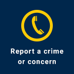 button linking to Report a Crime webpage
