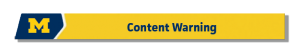 Content Warning Button