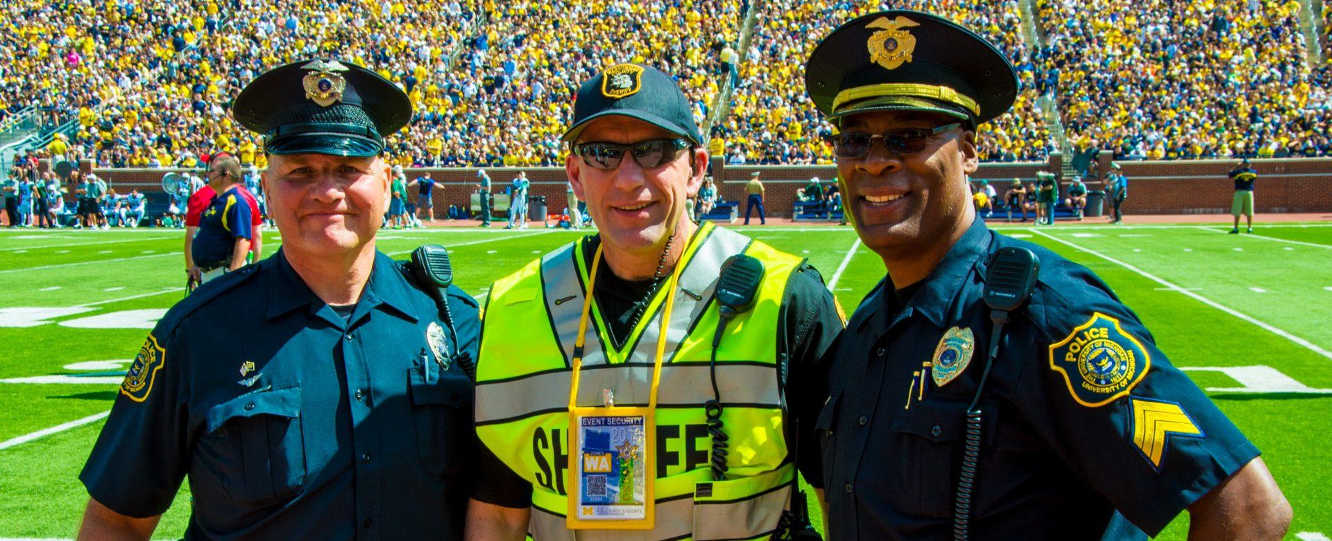 Officer Garry Veld, WSCO Sgt. David Archer and Sgt. Gary Hicks