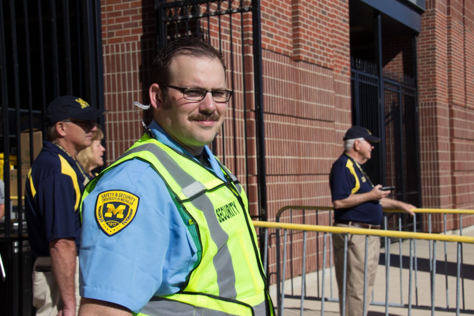 Security Officer James Azzopardi works his first uniformed event.