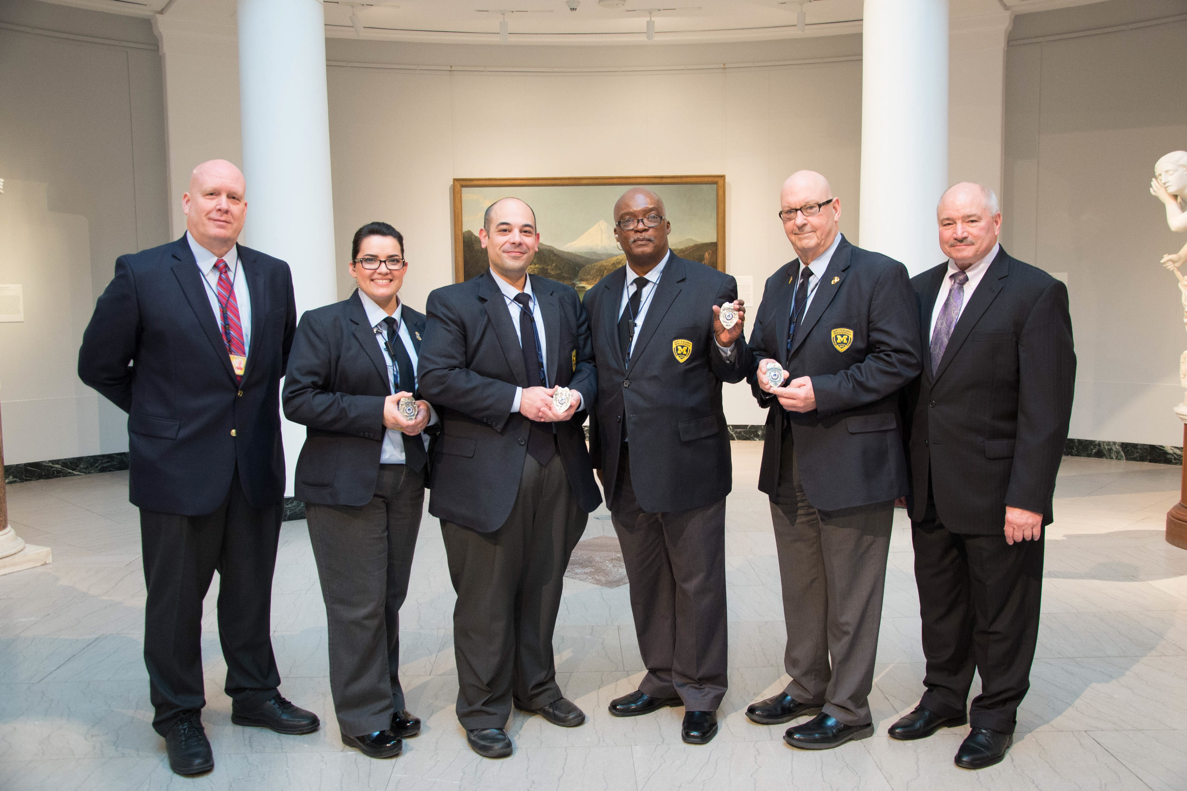 Security Officers receive their badges