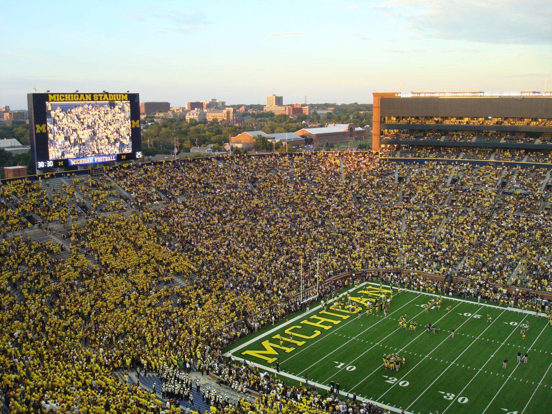Football at Michigan Stadium