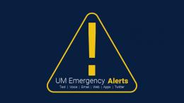 um-emergency alert