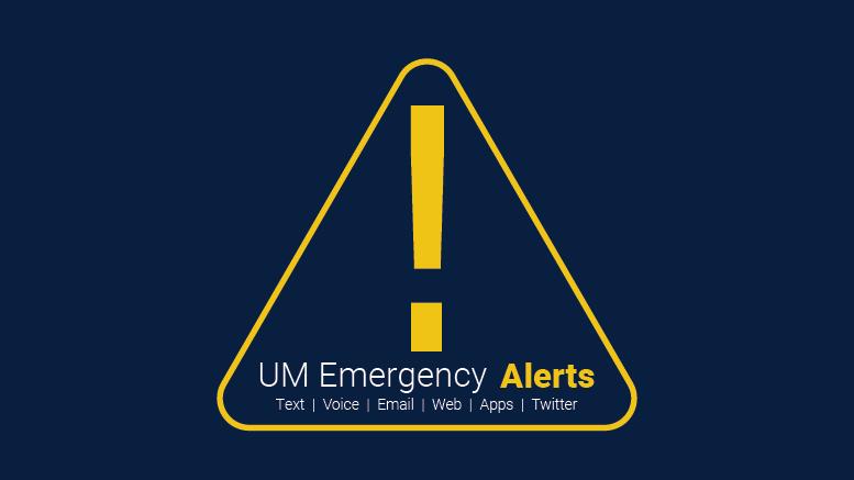 Test Of UM Emergency Alert System Conducted Nov 3