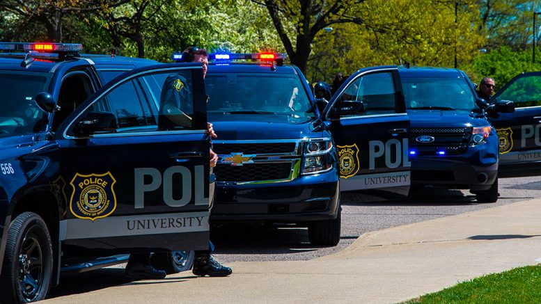 UM Police responding in patrol vehicles