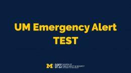 EMERGENCY ALERT TEST