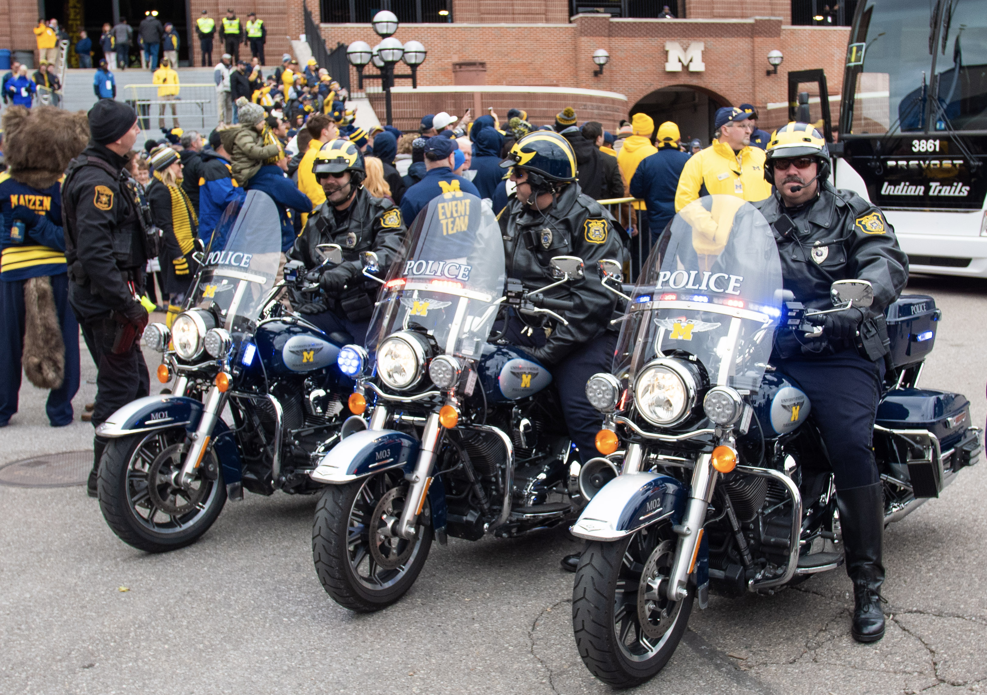 Police Motorcycle Team on Game Day