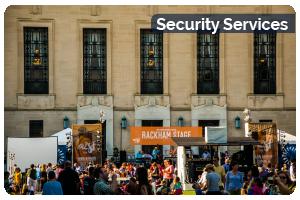 Security Services Button