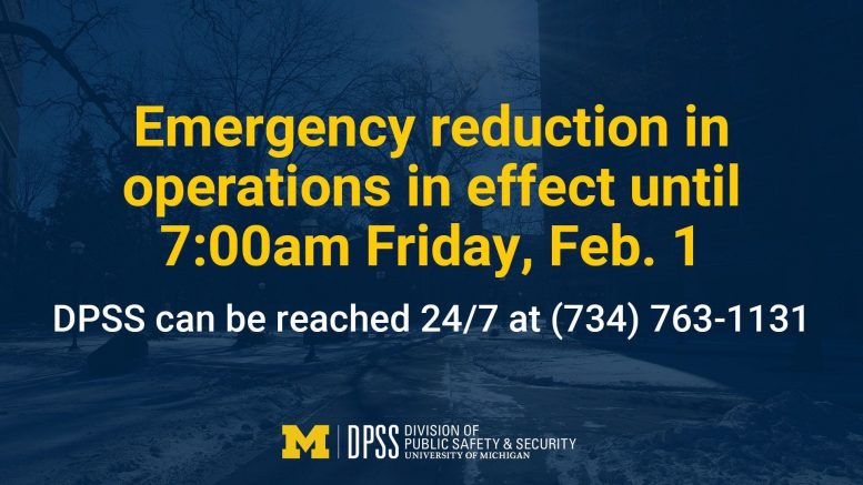 Emergency Reduction of Operations