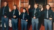 Sgt. Conners is sworn in as a U-M police officer