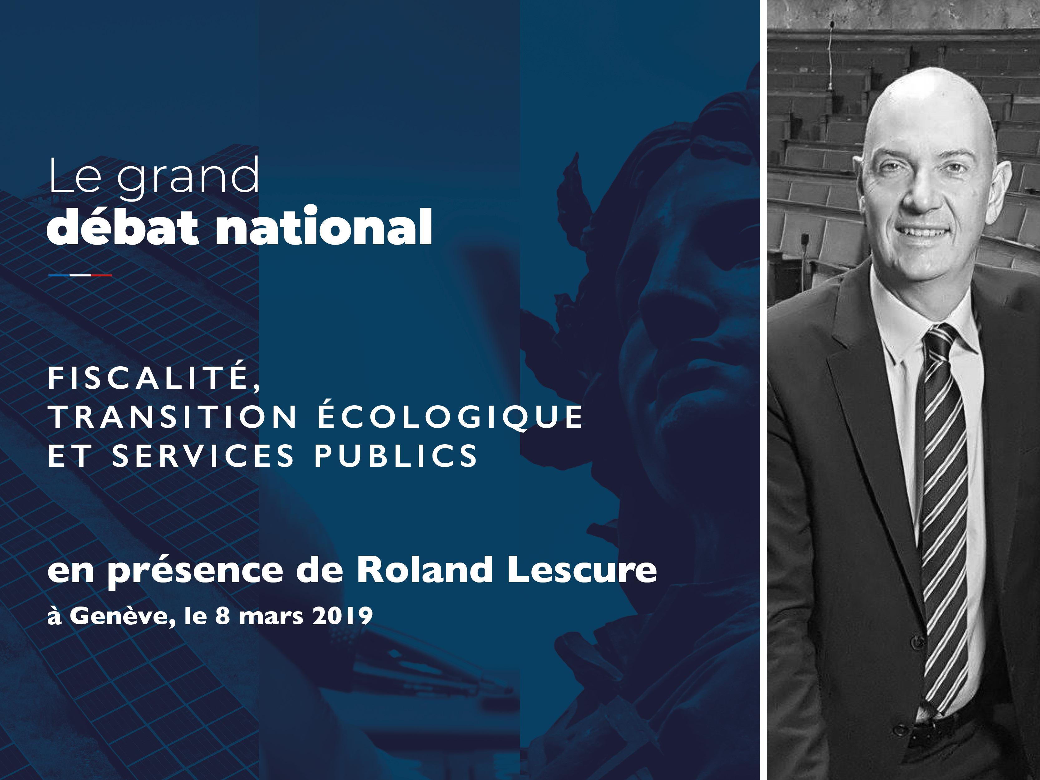 """Grand Débat - Atelier """"Fiscalité, Transition écologique & Services publics"""" à Genève"""