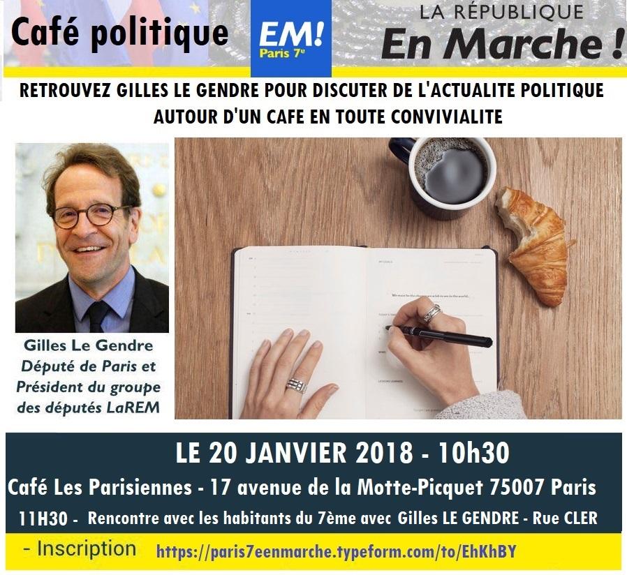 Café Politique avec Gilles LE GENDRE Député de Paris
