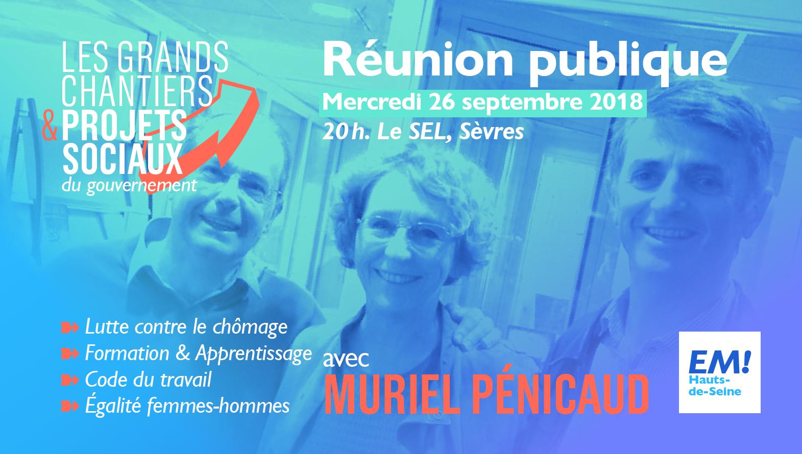 Réunion publique avec Muriel Pénicaud