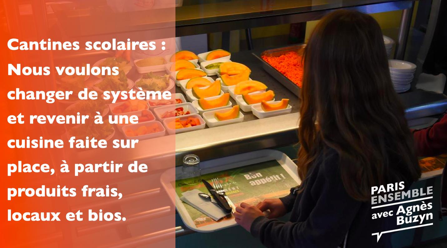 Cantines scolaires : nos engagements pour changer de modèle dans le 18e arrondissement de Paris.