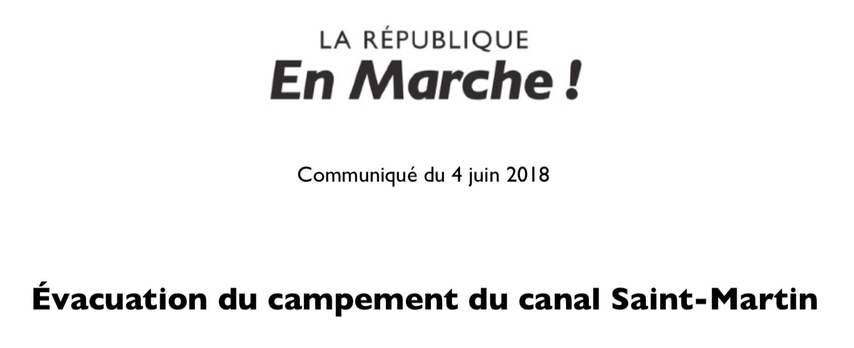 Évacuation du campement de migrants du canal Saint-Martin