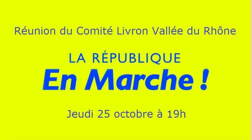 Réunion du Comité Livron Vallée du Rhône