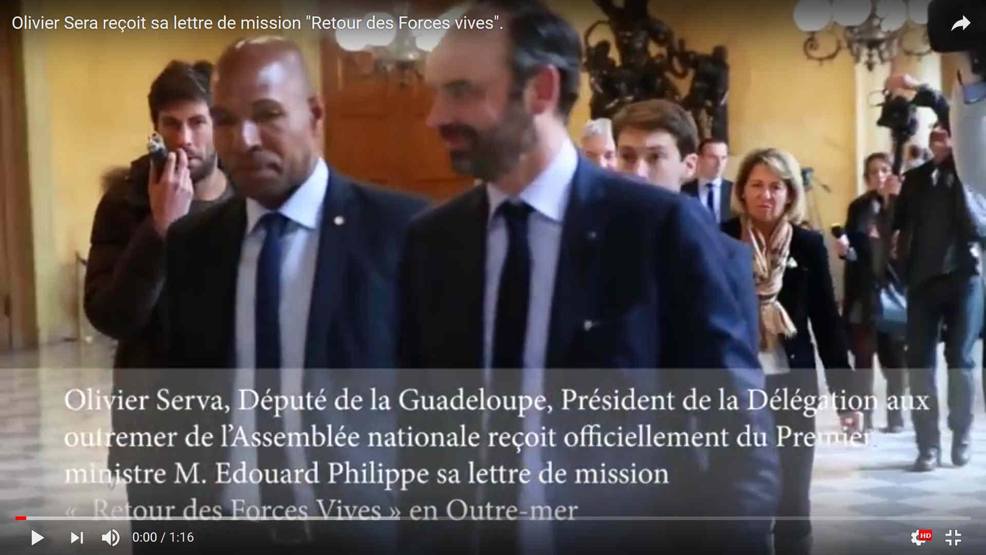 Le député En Marche #Guadeloupe Olivier SERVA vient d'être missionné par le Premier ministre.