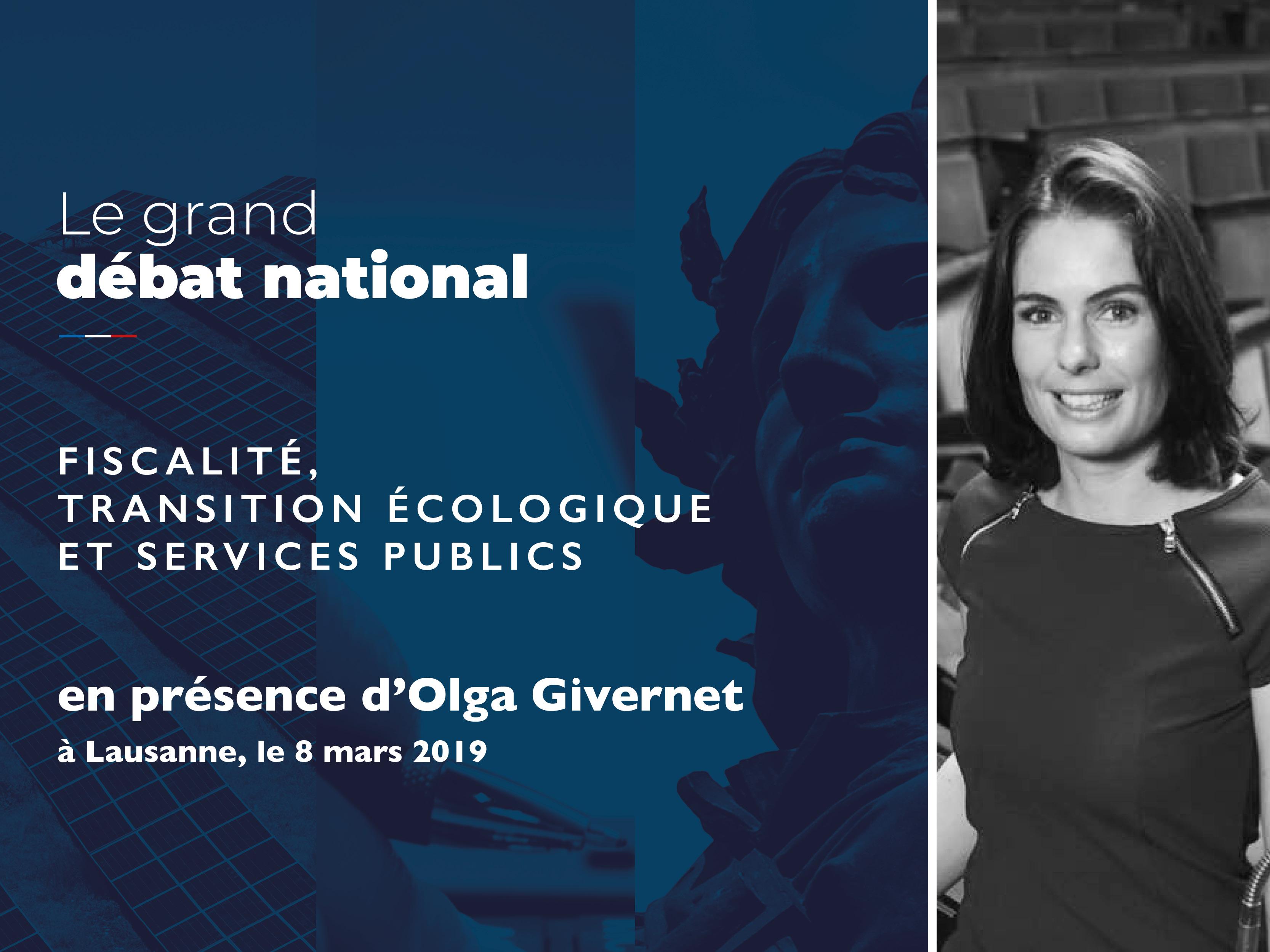 """Grand Débat - Atelier """"Fiscalité, Transition écologique & Services publics"""" à Lausanne"""