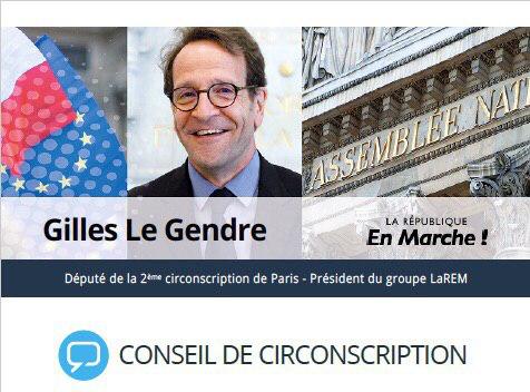 SAVE THE DATE : Le 18 septembre 2019 aura lieu le prochain conseil de circonscription de Gilles LE GENDRE, Député de Paris