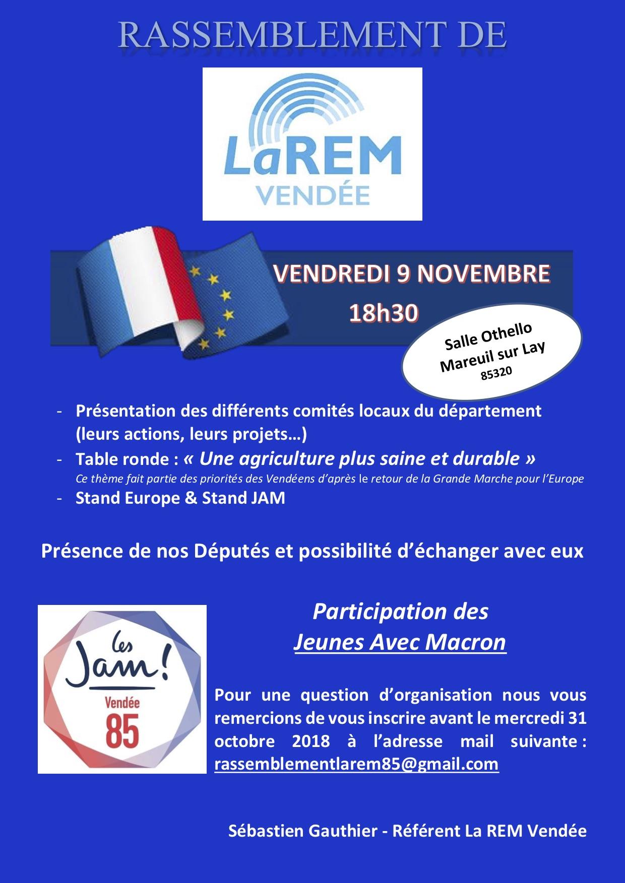 Premier grand rassemblement de LaREM Vendée
