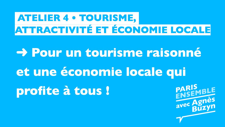 Tourisme, attractivité  et économie locale | Atelier 4 - Paris 18 2020