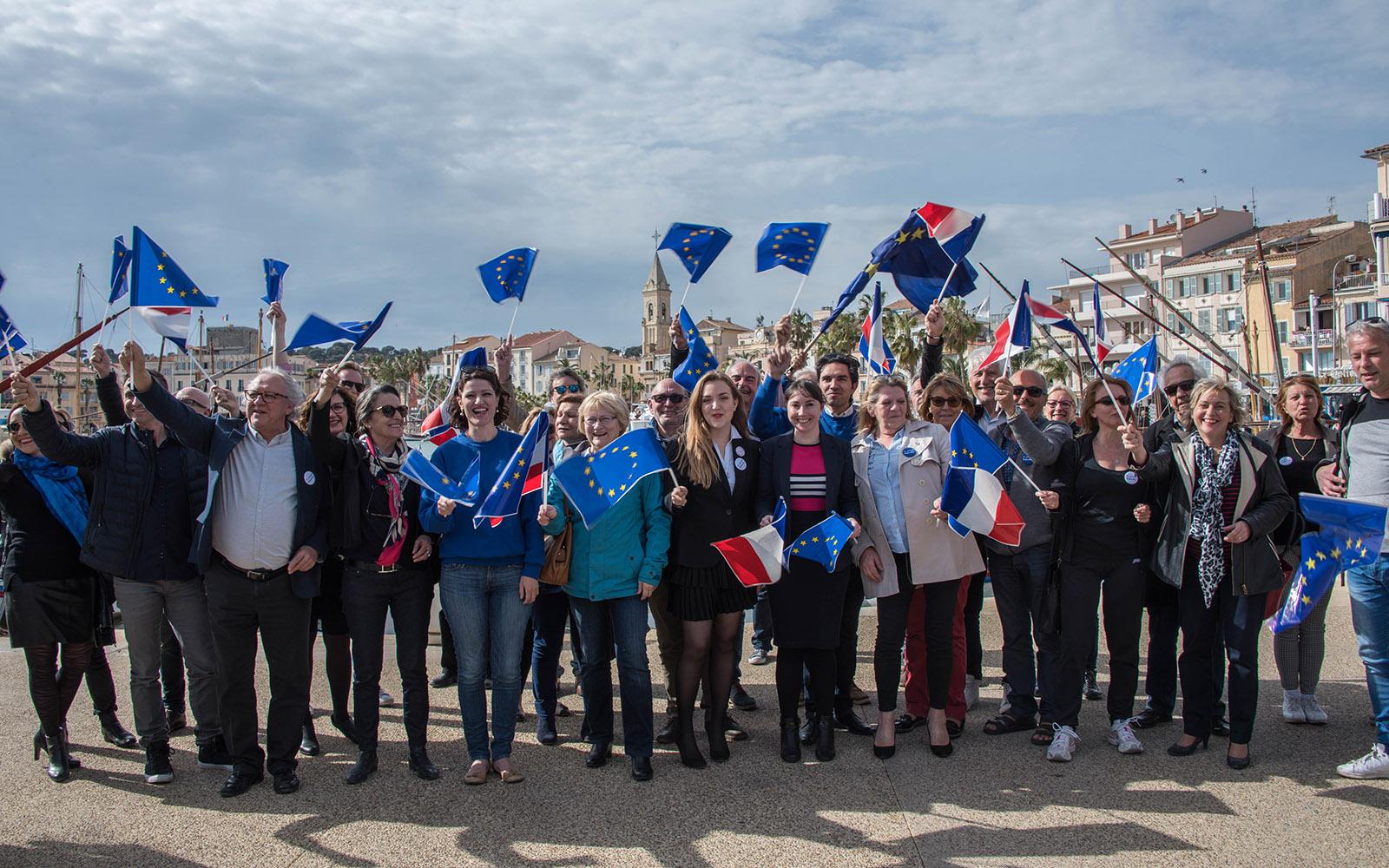 La Grande Marche pour l'Europe dans le Var
