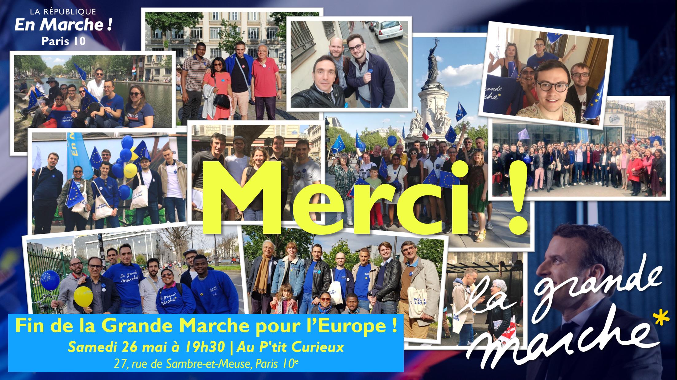 Fin de la Grande Marche Europe à Paris 10 - Pot convivial !
