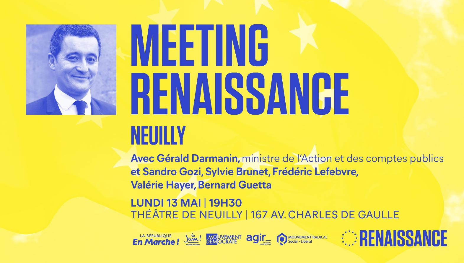 Meeting Renaissance pour l'Europe dans les Hauts-de-Seine