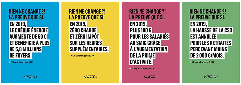 """""""Ce qui change en 2019"""" : la nouvelle campagne LaREM"""
