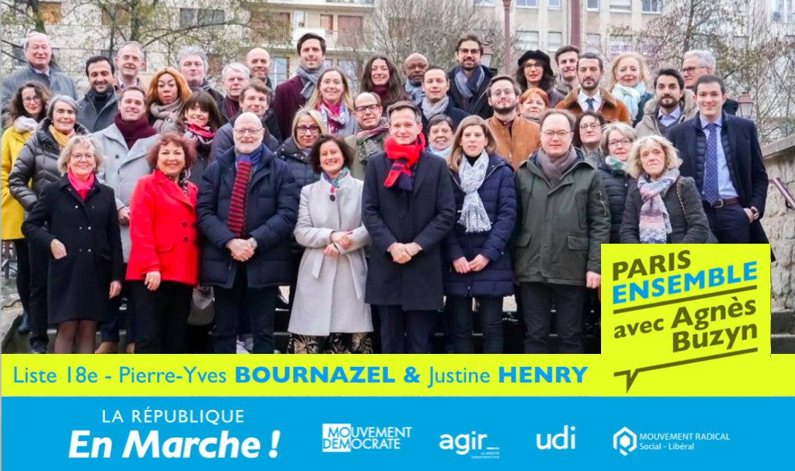 Découvrez les visages de notre liste Paris 18e Ensemble conduite par Pierre-Yves Bournazel