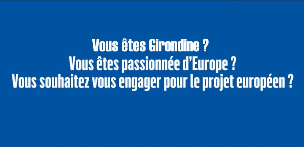 Girondines, choisissez l'Europe !