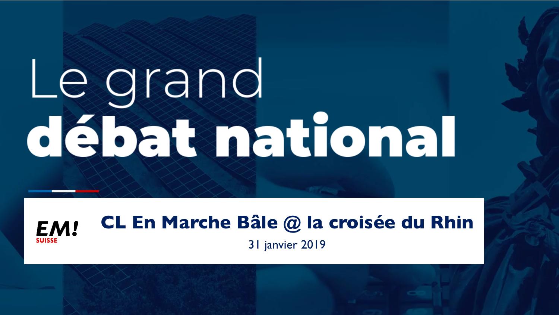 """Grand Débat - Atelier """"Démocratie et Citoyenneté"""" à Bâle"""