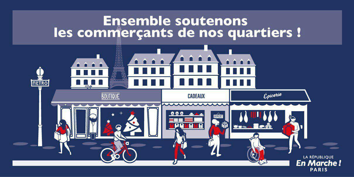Opération LREM PARIS : Soutenons nos commerçants