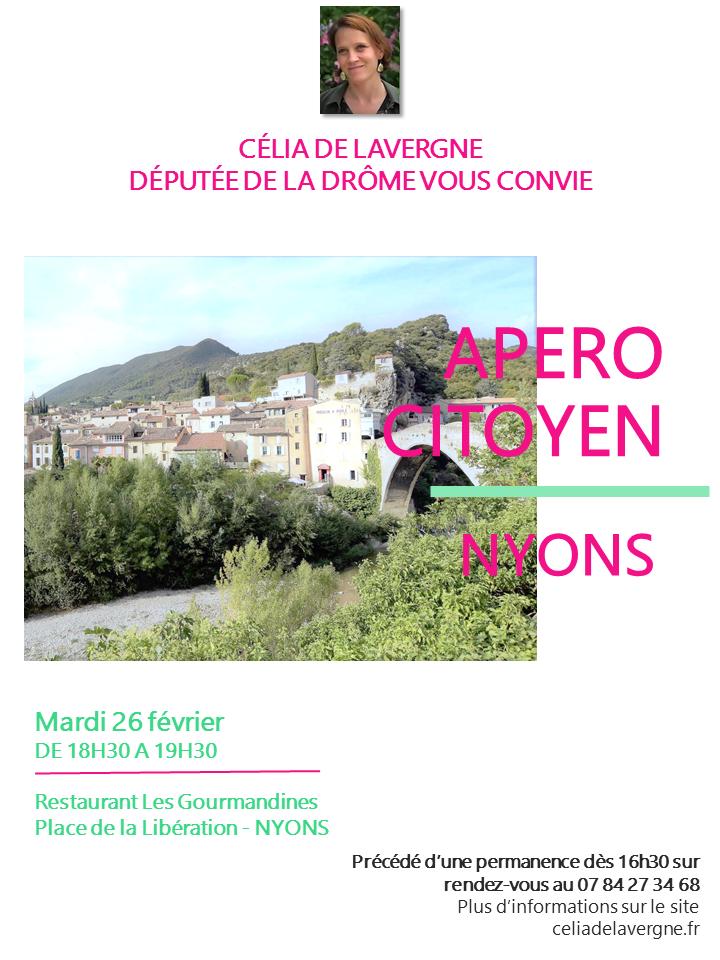 Apéro Citoyen avec Célia de Lavergne à Nyons