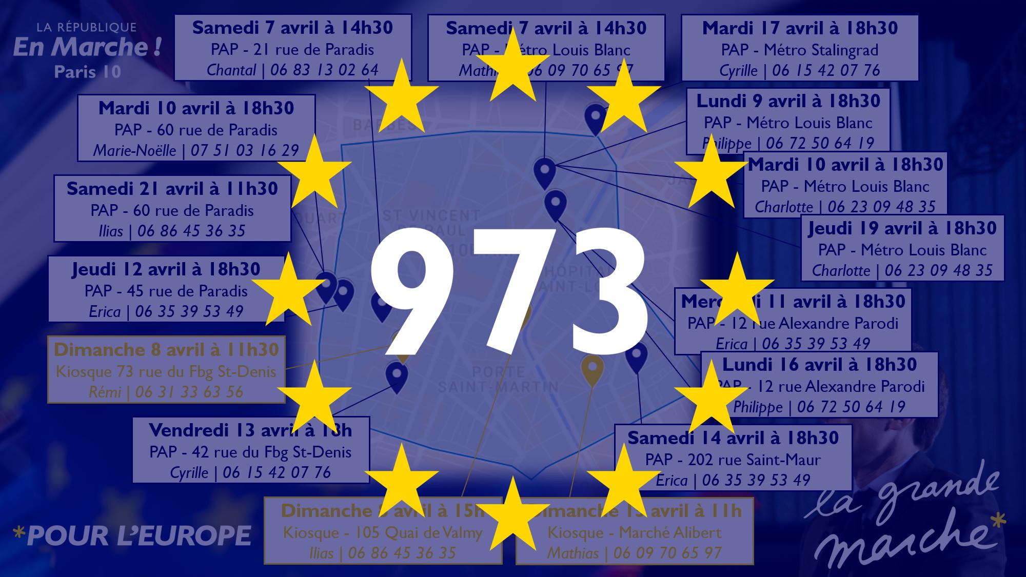 Grande Marche pour l'Europe dans le 10e arrondissement